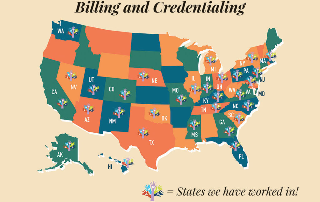 ABA Therapy Billing Credentialing Map